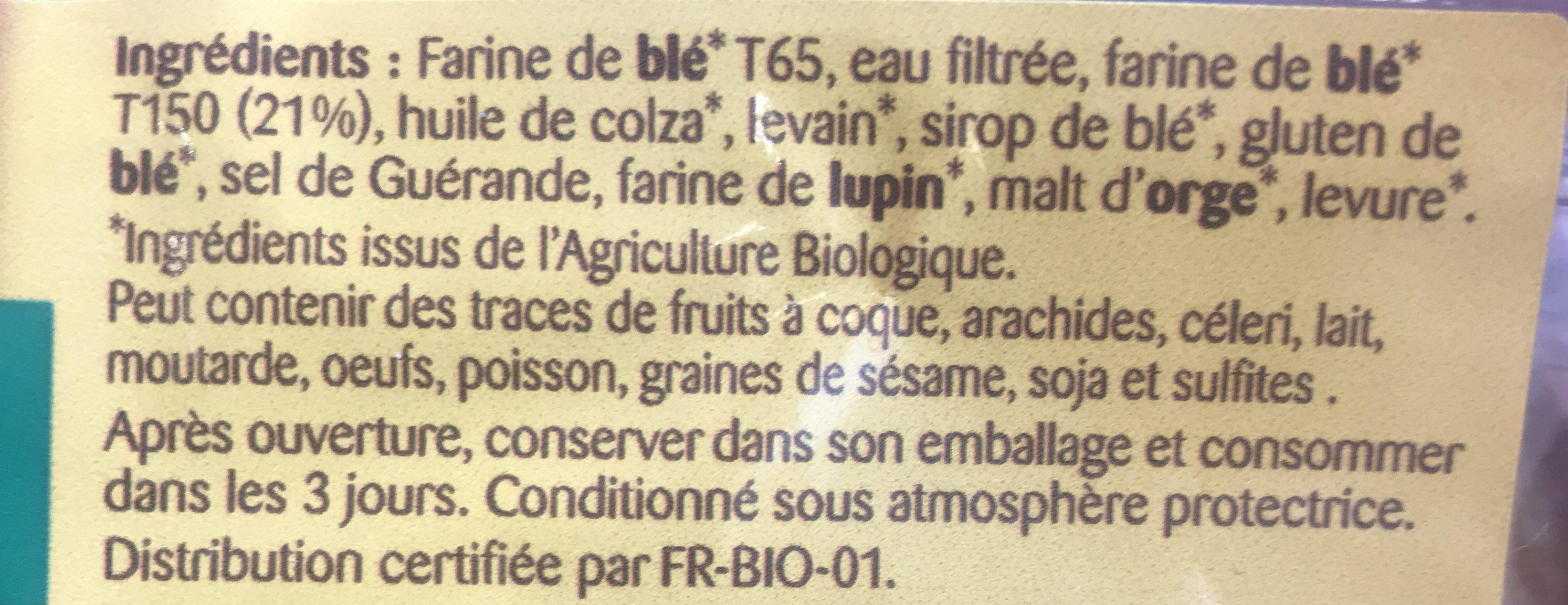 Pain de Mie à la farine complète - Ingredienti - fr