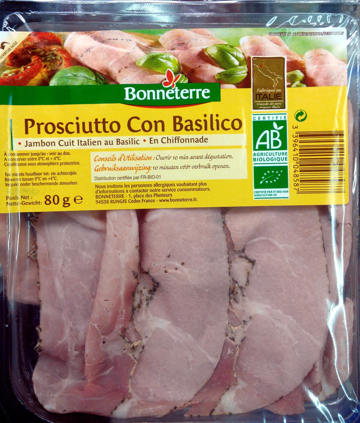 Prosciutto Con Basilico - Product