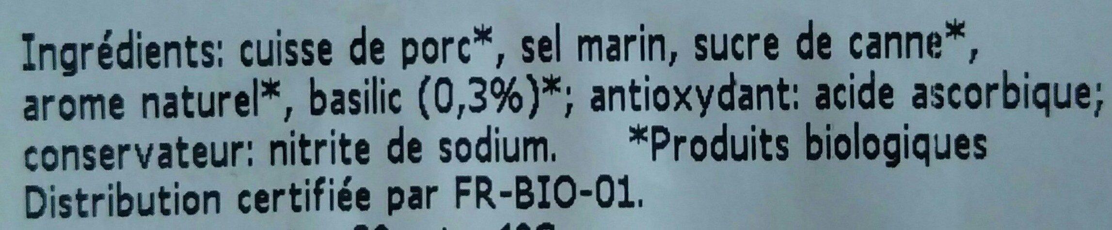 Prosciutto Con Basilico - Ingredients