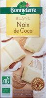 Chocolat blanc noix de coco - Produit - fr