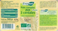 Pain complet aux 3 cereales evernat