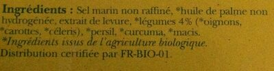 Bouillons Cubes Legumes - Ingredients - fr