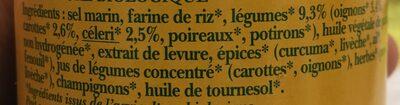 Bouillon de légumes - Ingredients - fr