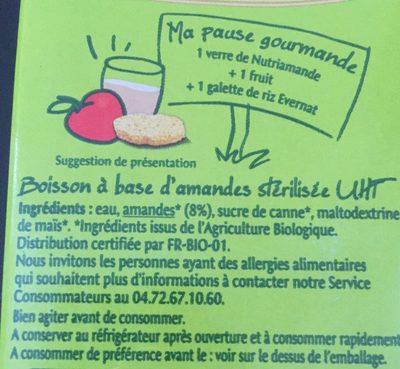 Nutri Amande - Ingrédients - fr