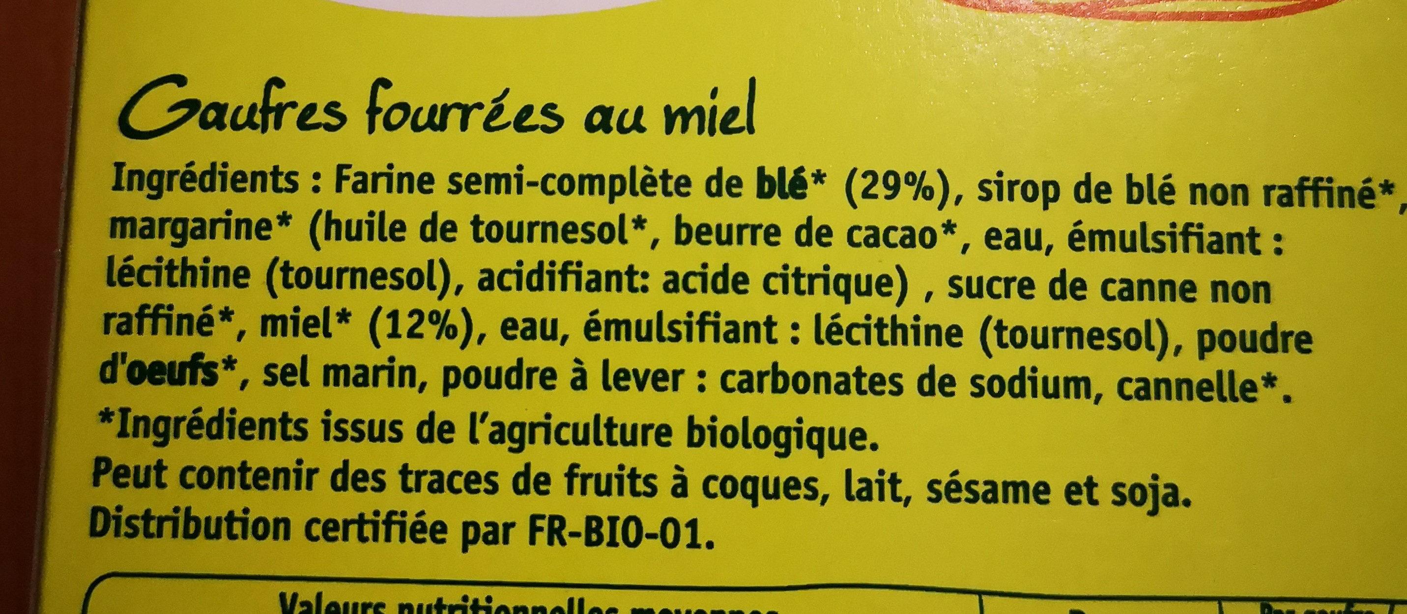 Gaufres Miel - Ingredients