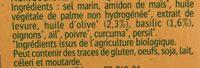 Bouillon cube - Ingrediënten