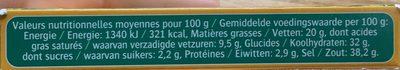 Bouillon cube - Voedingswaarden