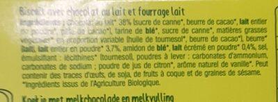 Formule Choc' - Ingredients - fr