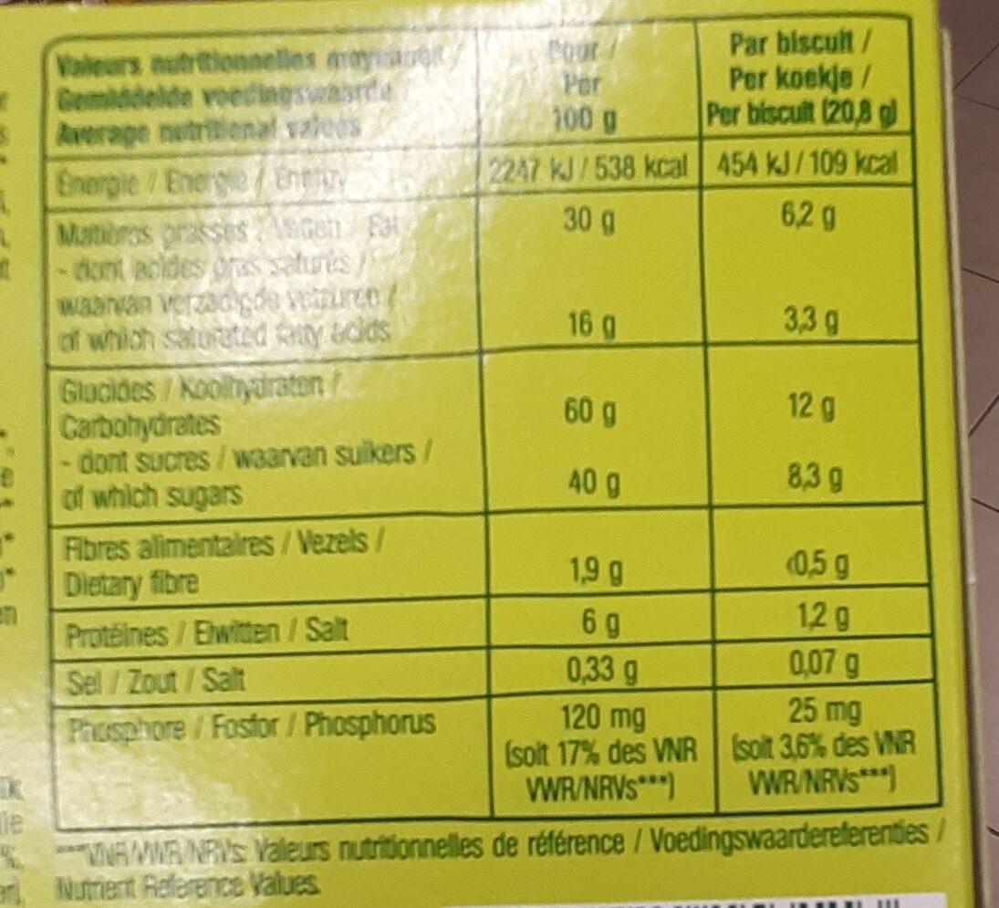 Formule Choc' - Nutrition facts - fr