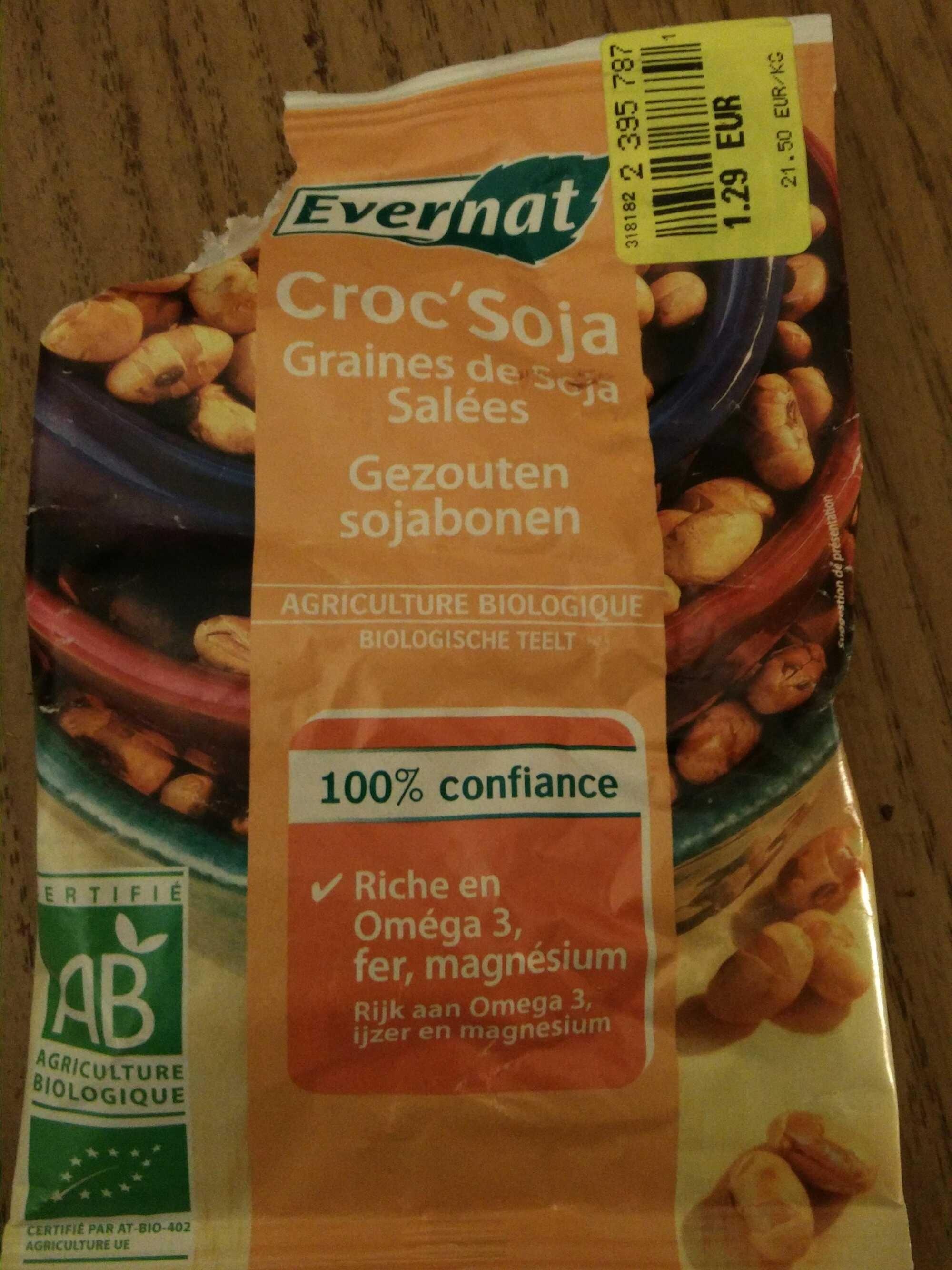 Croc'soja - graines de soja salées - Product - fr