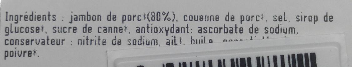 Jambon Blanc avec couenne - Ingrédients - fr