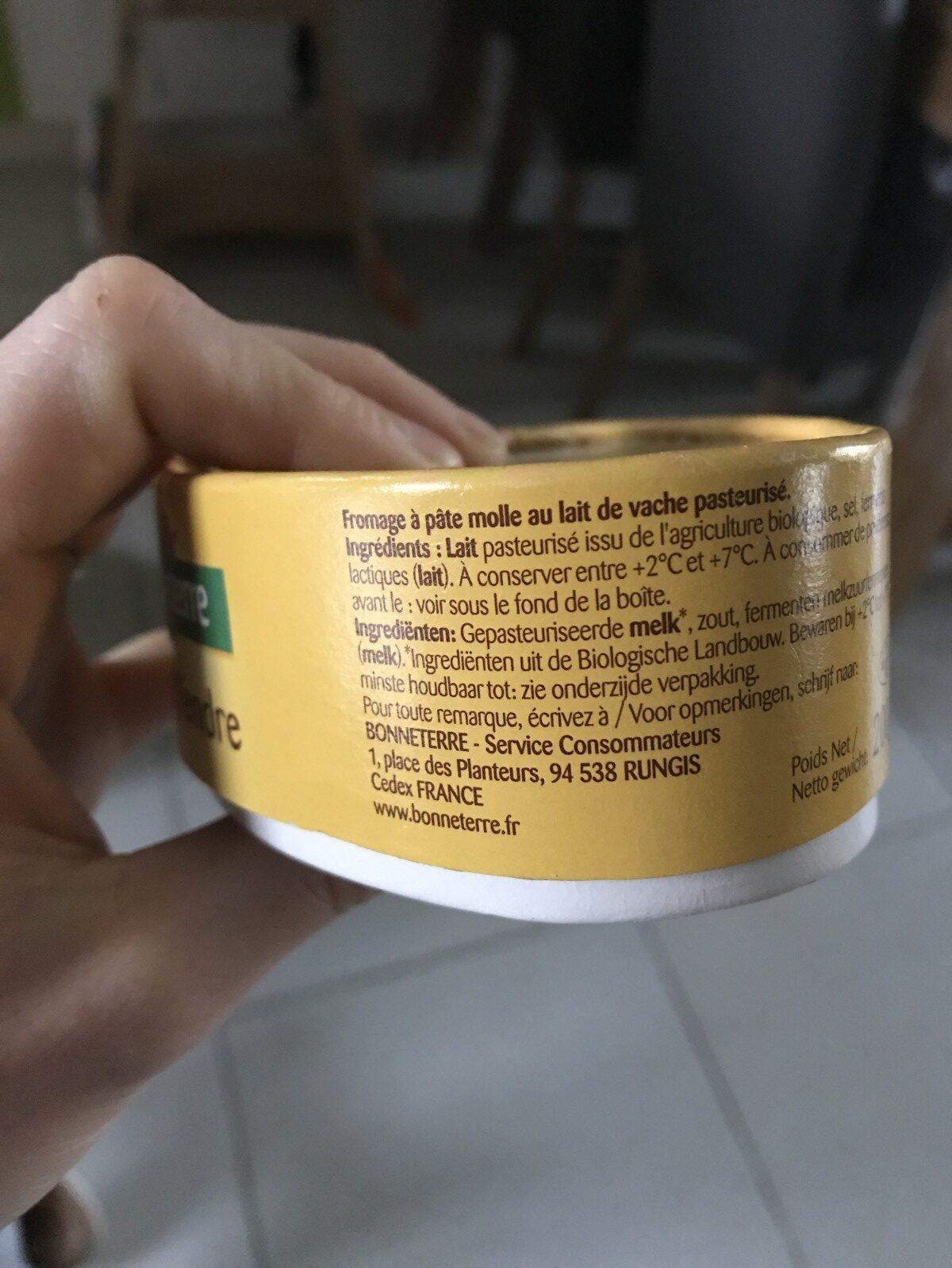 L'Ovale Tendre - Ingrediënten