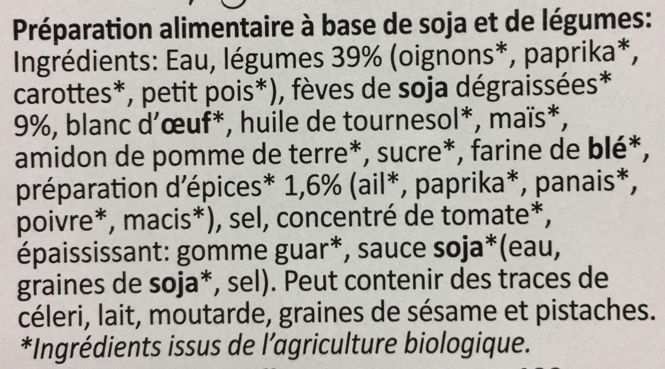 Galettes Veggie - Ingrédients - fr