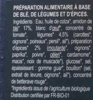 Knacks Veggie légumes - Ingrédients