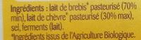 Feta A.O.P - Ingrédients - fr