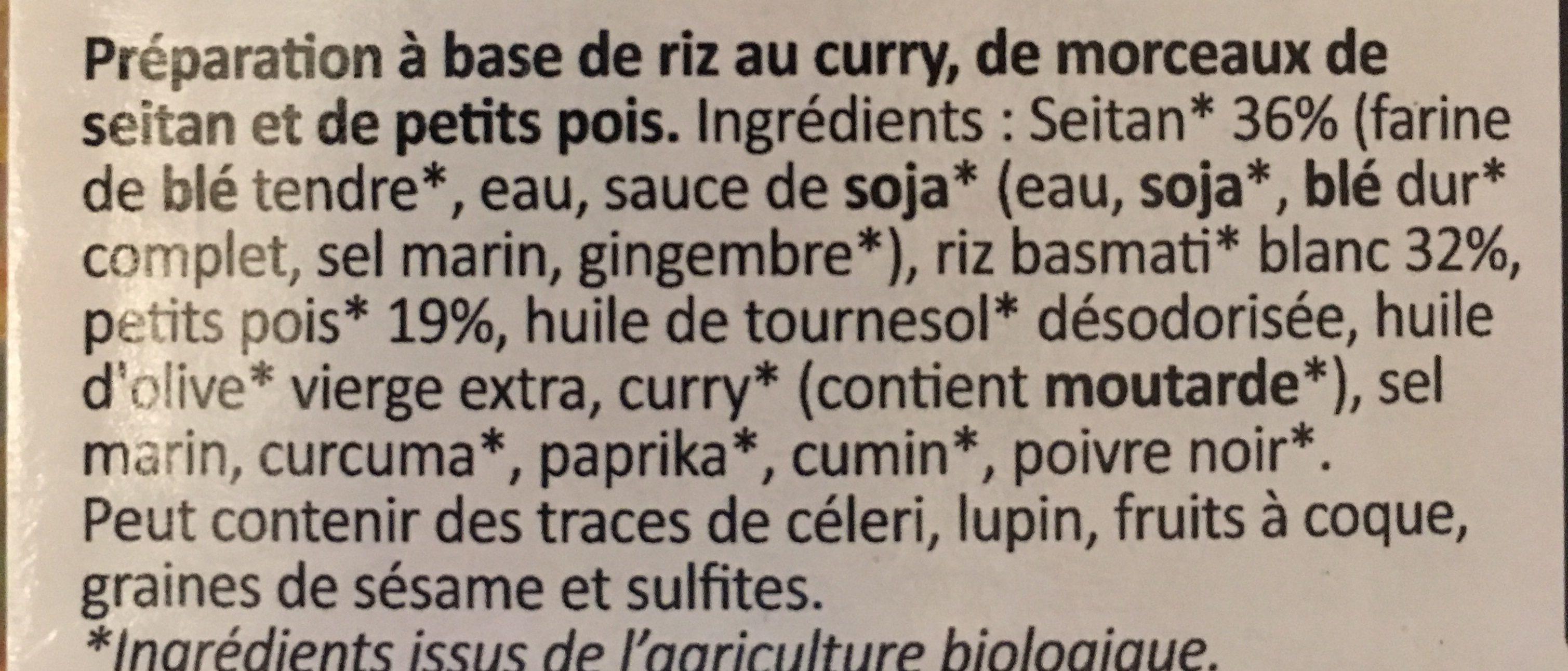 Riz et seitan à l'indienne - Ingredients