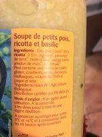 Soupe petits pois ricotta et basilic - Ingrediënten