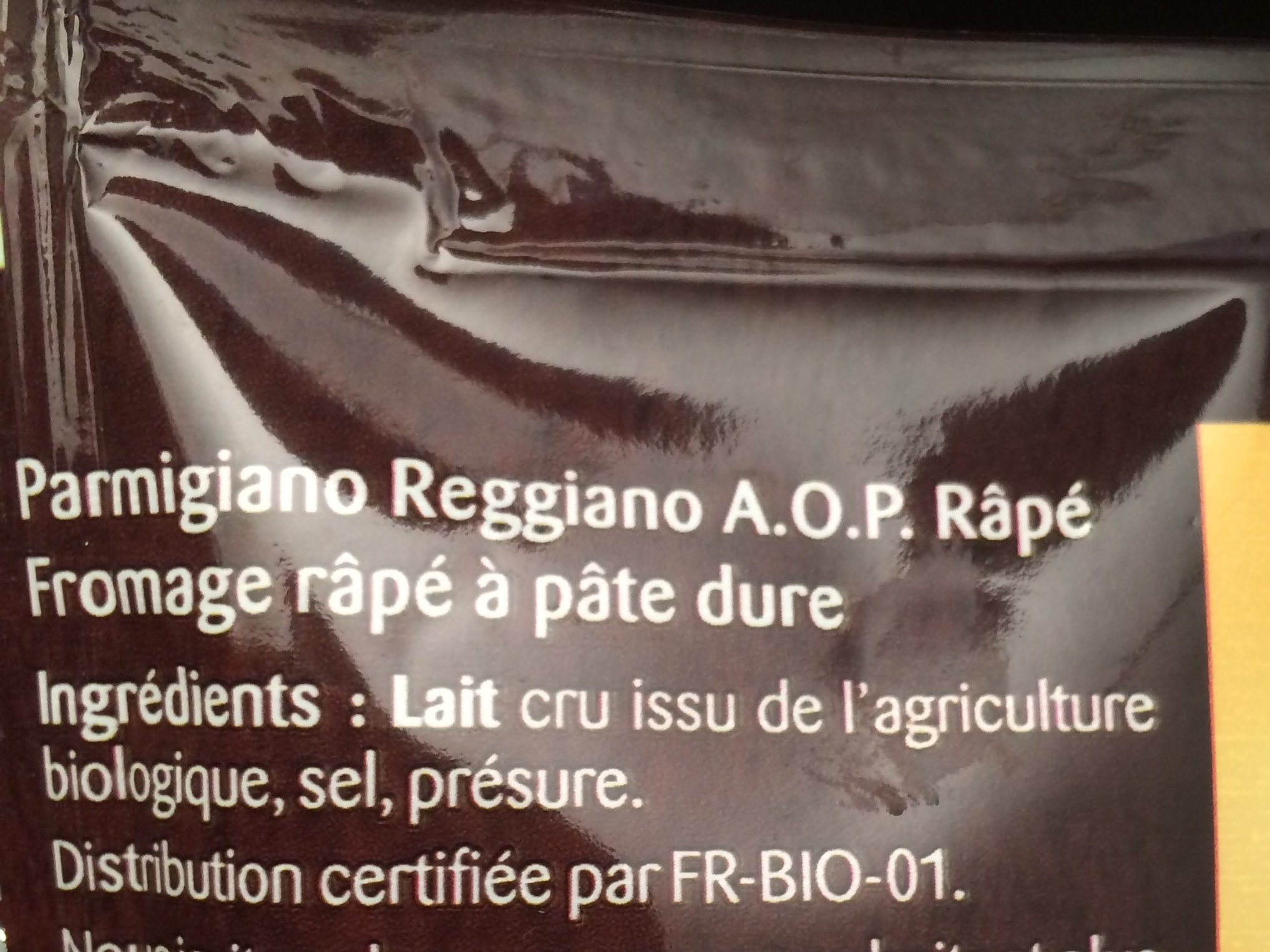 Parmigiano Reggiano AOP râpé - Ingredients