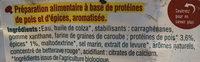 Tranches pois & épices - Ingrédients - fr