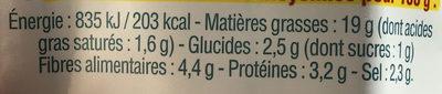 Tranches pois & épices - Informations nutritionnelles - fr