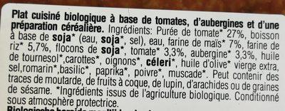Lasagnes végétales tomate et aubergine - Ingrédients
