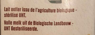 Lait Entier - Ingredienti - fr