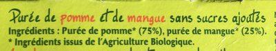 Dessert Pomme / Mangue - Ingrédients