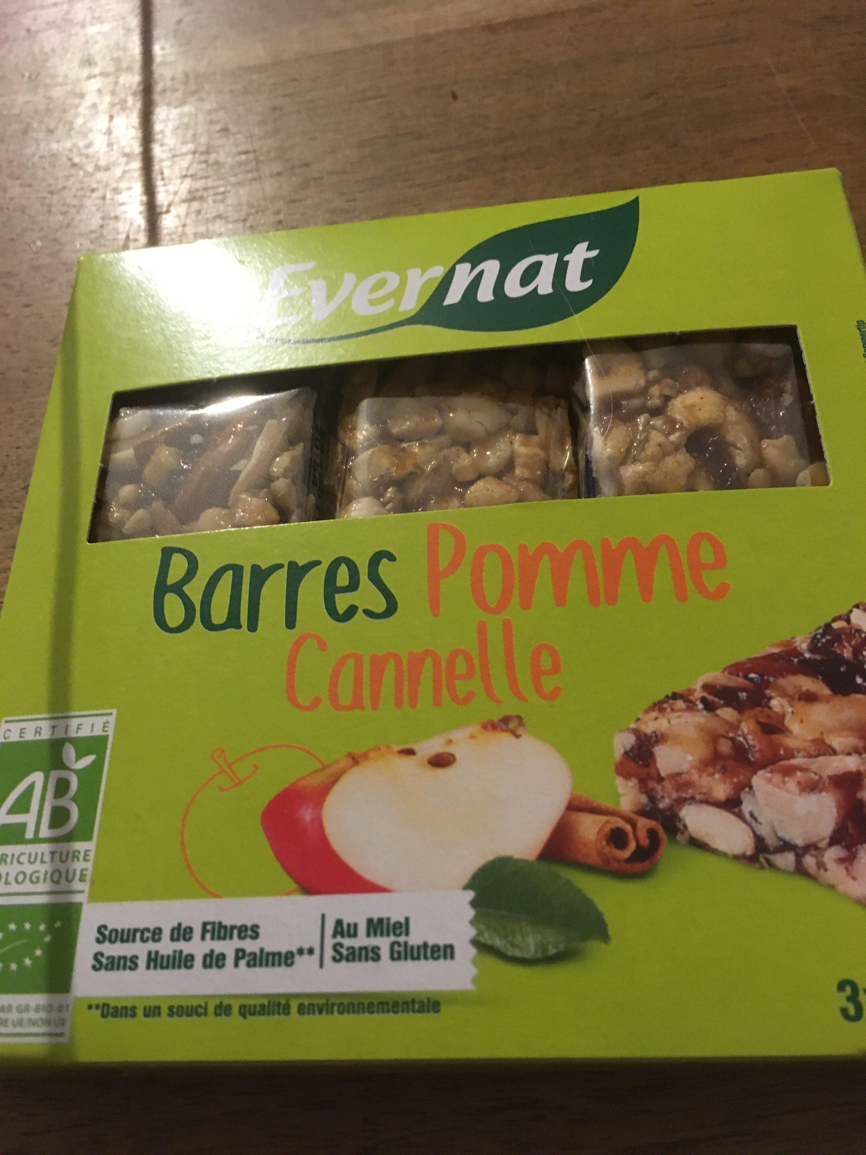 BARRE POMME CANNELLE SANS GLUTEN3X25G - Produit - fr