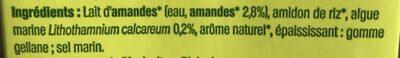 Douceur Amande sans sucres ajoutés - Ingrediënten