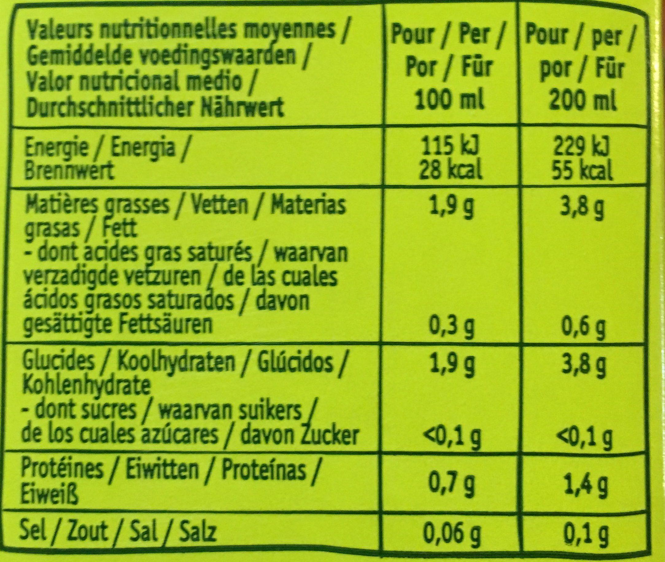 Douceur Amande sans sucres ajoutés - Voedigswaarden