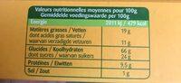 Petit normand nature - Výživové údaje - fr
