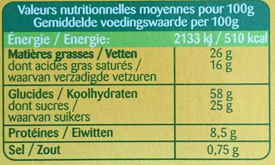 Bonneterre - Voedingswaarden - fr