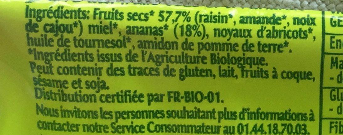 Barre Ananas - Ingredients