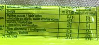 Barre Ananas - Nutrition facts