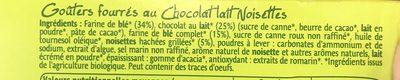 Gouters Chocolat Lait Noisette - Ingrédients - fr