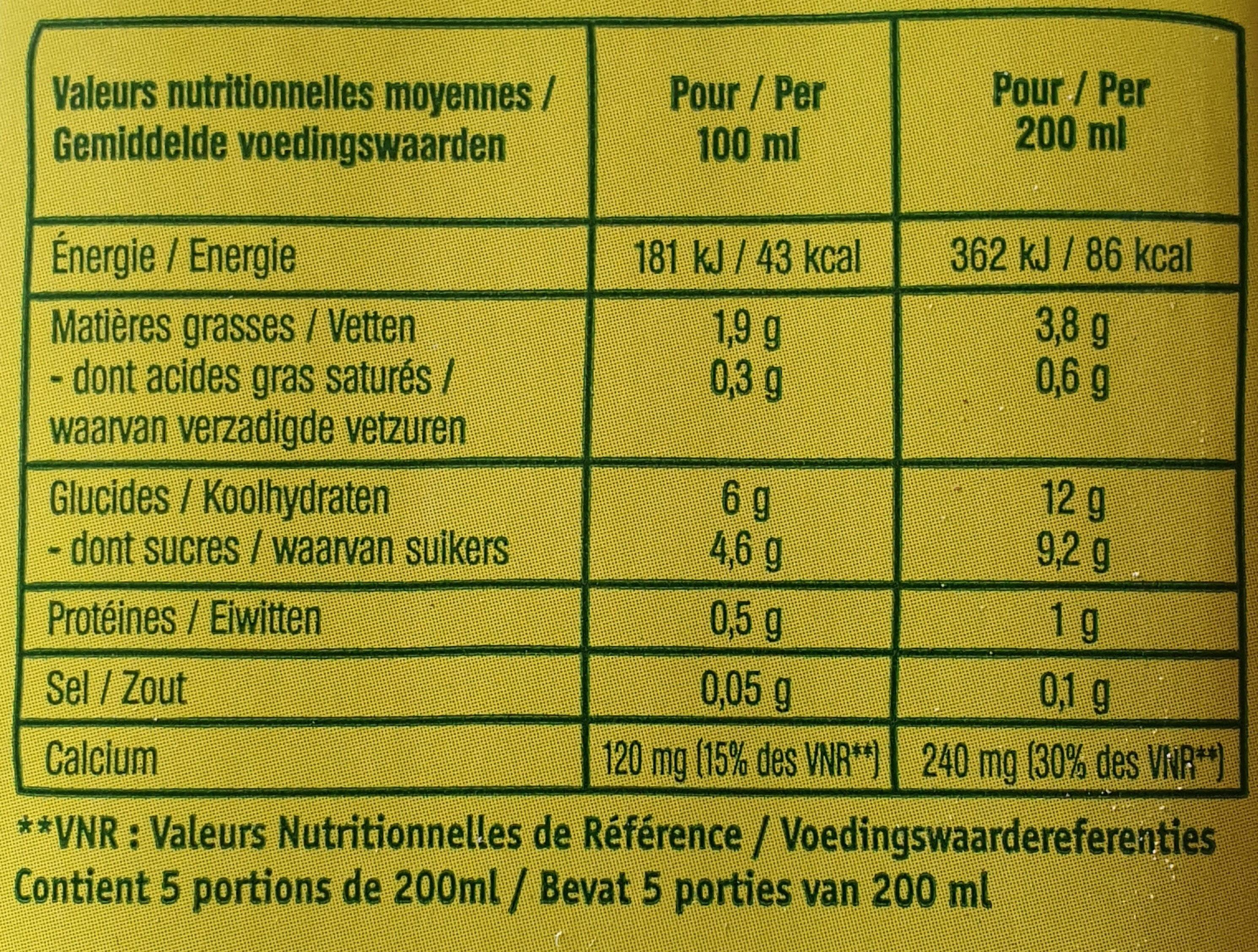 DOUCEUR AMANDE VANILLE - Informations nutritionnelles - fr