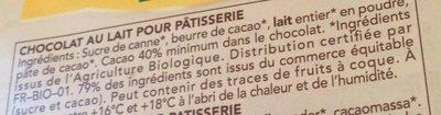 Lait Pâtisserie - Ingredients - fr