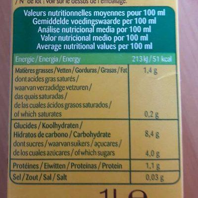 Lait Avoine Nature - Informations nutritionnelles