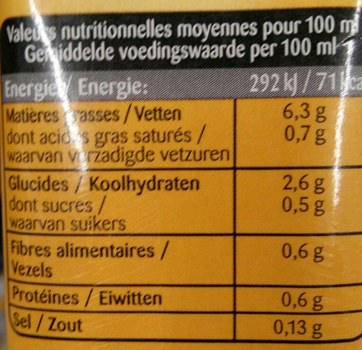 Avoine cuisine - Informations nutritionnelles - fr