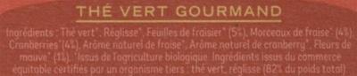 Thé vert gourmand - Ingrédients