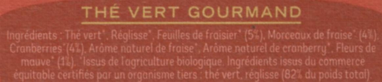 Thé vert gourmand - Ingrédients - fr