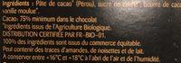 Dégustation Noir Sélection Pérou - Ingredients