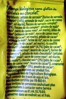 Muesli Sarrasin Chocolat - Ingrédients - fr