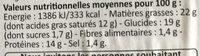 Croustillants veggie au fromage - Valori nutrizionali - fr