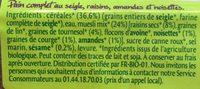 Epicerie / Farines, Pains Et Tartines / Pain, Pain Précuit - Ingrédients
