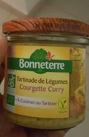 TARTINADE DE LEGUMES COURGETTE CURRY - Produit - fr