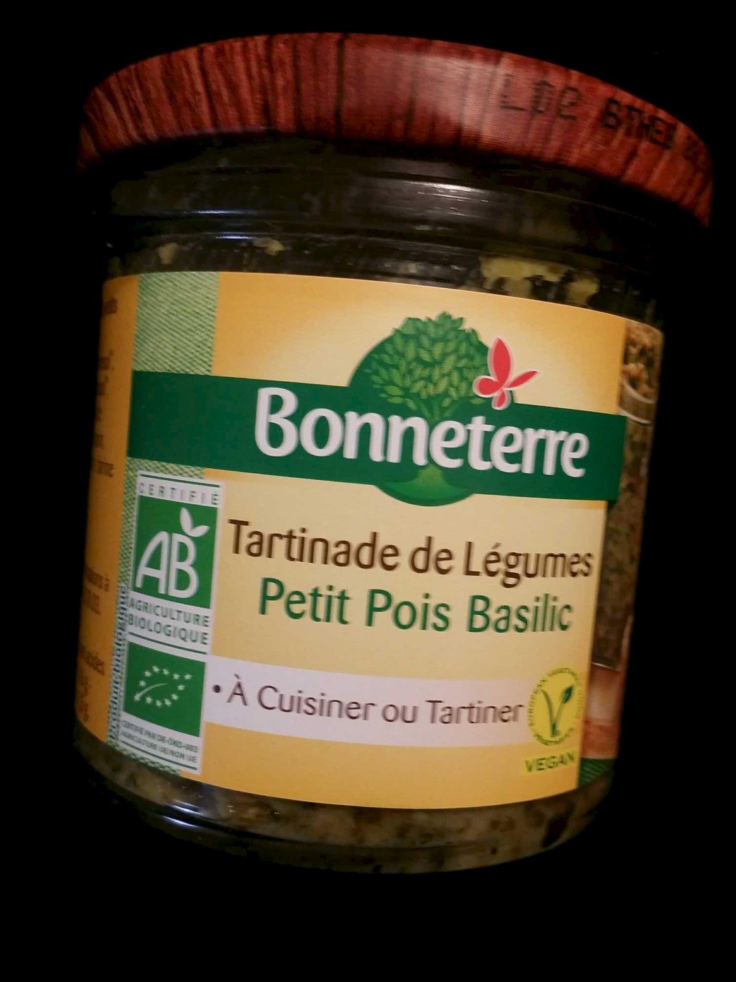 Tartinade de légumes Petits Pois Basilic - Produit