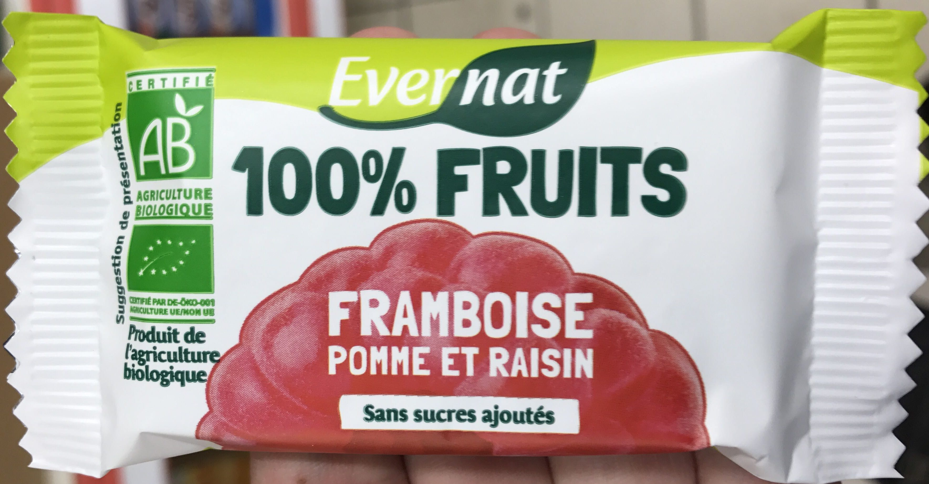 100% Fruits Framboise Pomme et Raisin - Product