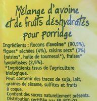 Flocons De Céréales - Ingrédients