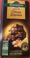Chocolat noir citron gingembre - Product